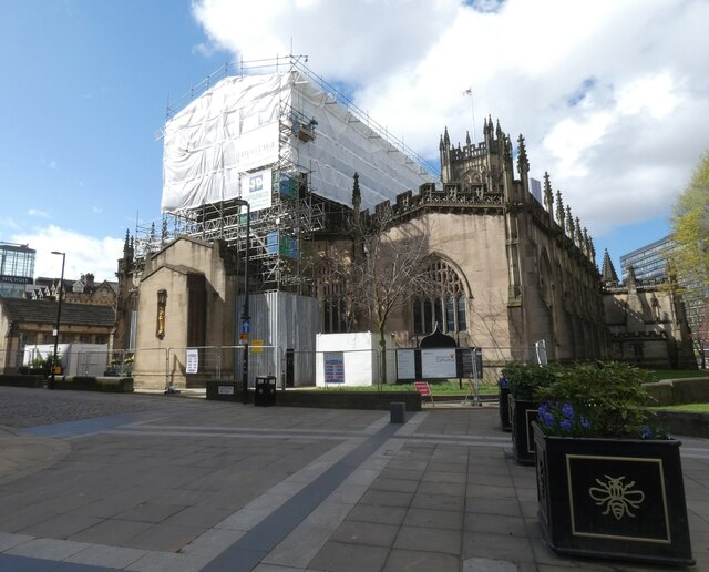Manchester Cathedral under lockdown