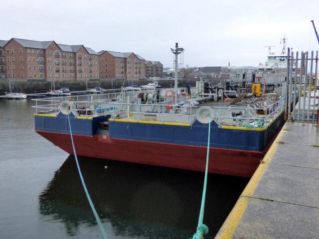 Ship in James Watt Dock