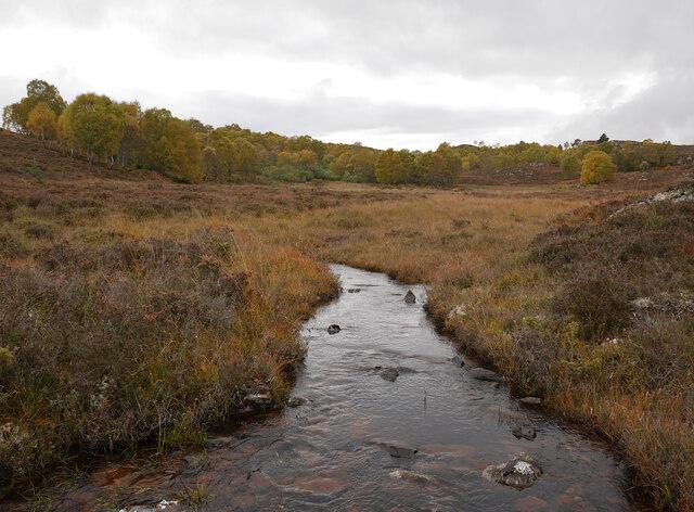 Moorland stream, by Loch nam Faoileag