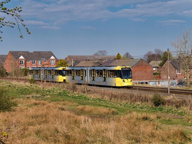 Metrolink Tram between Bury and Radcliffe