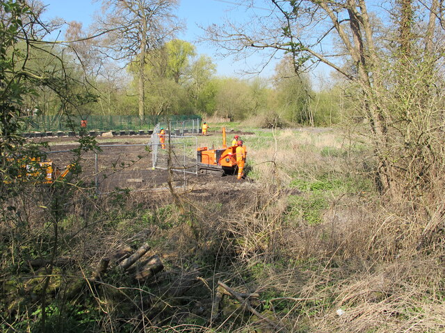 Preparing track for HS2 pylon removal