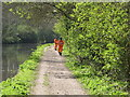 TQ0587 : HS2 security guards on Grand Union canal towpath by David Hawgood