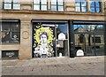 SJ8398 : 50 Windows of Creativity #21, Manchester's Queen Bee by Gerald England