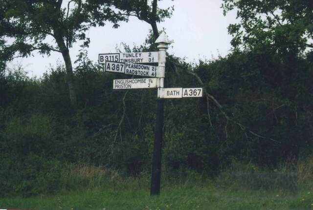 Direction Sign – Signpost on the A367 in Englishcombe