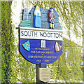 TF6422 : South Wootton village sign by Adrian S Pye