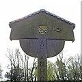 TF8037 : Stanhoe village sign by Adrian S Pye