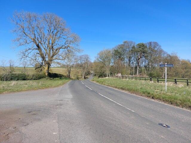 Minor road at Shilvington