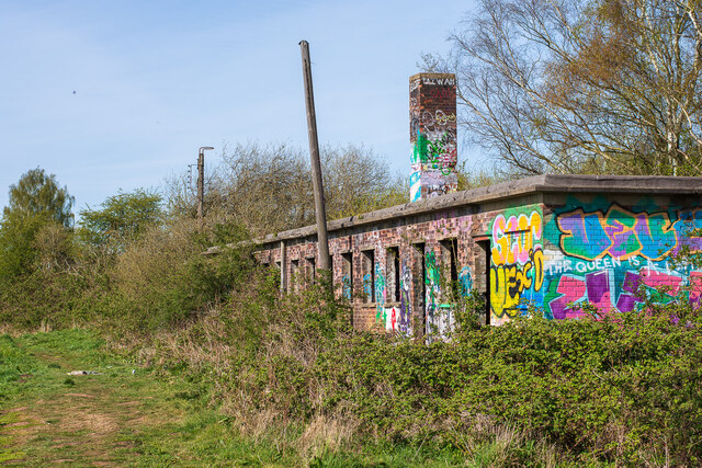 Abandoned railway buildings, Swanpool, Lincoln