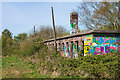 SK9571 : Abandoned railway buildings, Swanpool, Lincoln by Oliver Mills