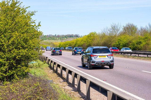 A46 Lincoln Bypass, from the National Cycle Route 64