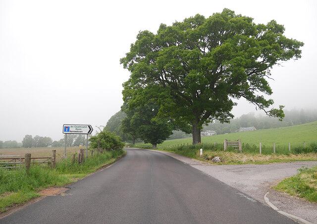 Kerrowdown junction, A82 road
