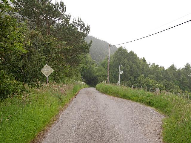 Minor road, by Drumbuie