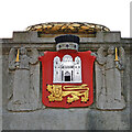 TG2208 : Norwich City coat of arms on the War Memorial by Adrian S Pye