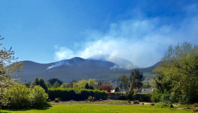 Wild Fire on the Northern Slopes of the Mournes