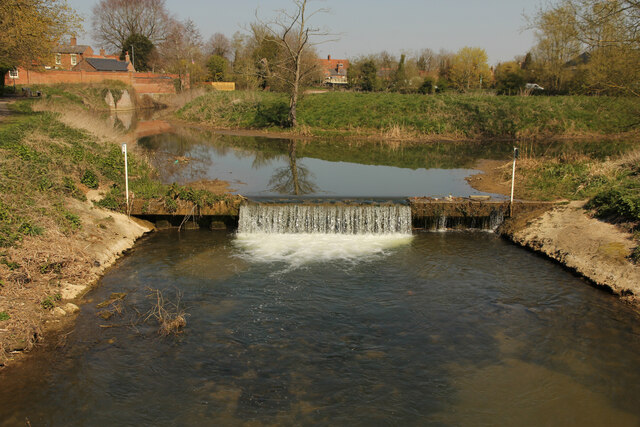 Weir on the Horncastle Canal