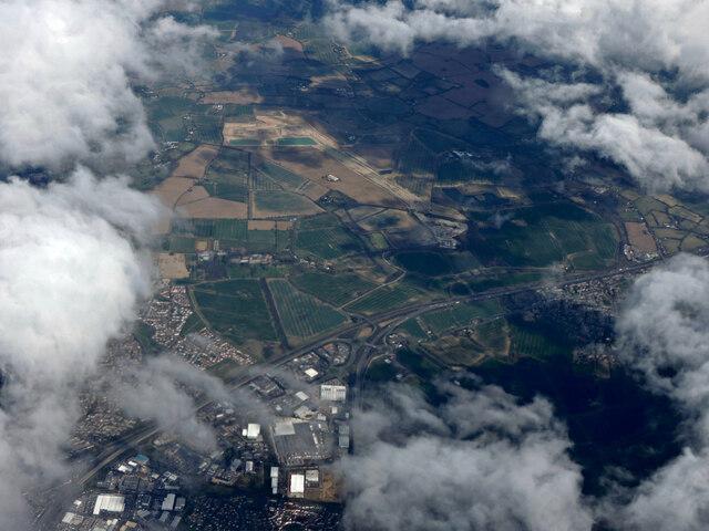 Former RAF Boreham from the air