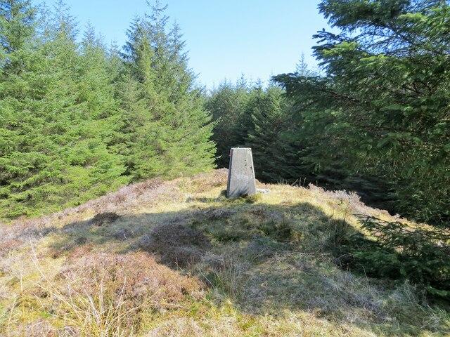 Creagan Hill trig pillar