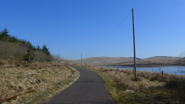 The Daer Reservoir road near Kirkhope Cleugh