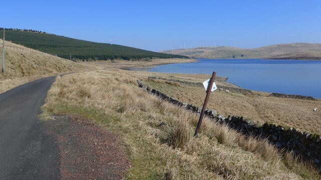 The Daer Reservoir road