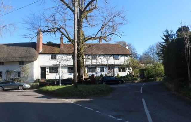 Tudor houses on Church Street, Micheldever