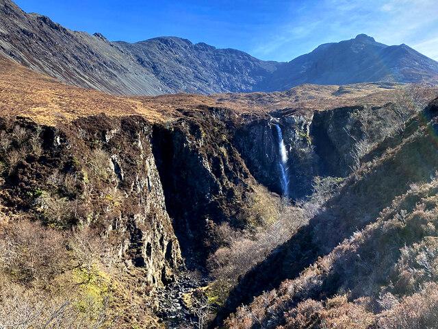 The gorge of the Allt Coire na Banachdich