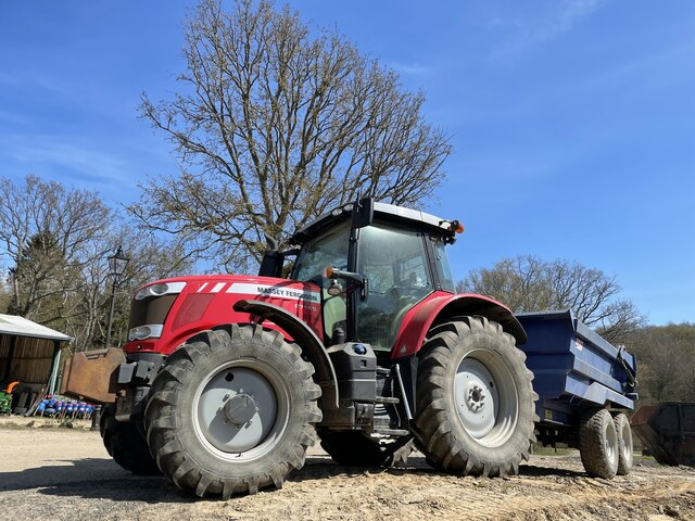 Tractor and trailer at Pepper Pot Farm