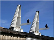 TQ6637 : Cowls at Oast House at Owl House Fruit Farm by Oast House Archive