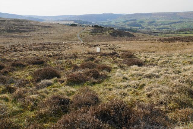 Line of shooting butts on Browsholme Moor