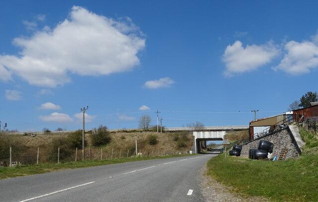 West Coast Main Line bridge over the B6257, Lowgill