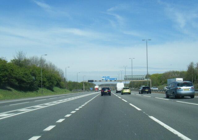 M1/A1(M) junction near Aberford