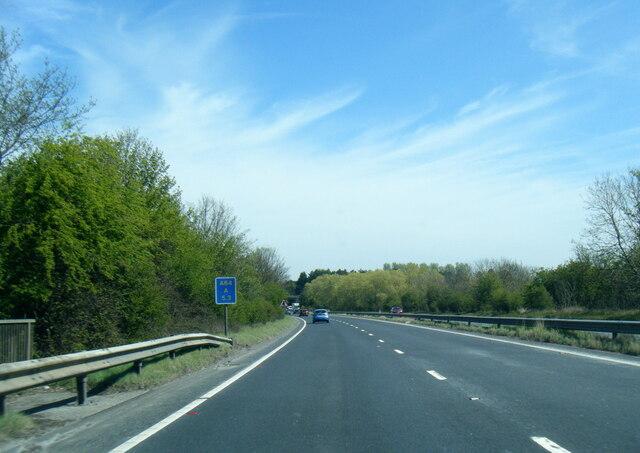 A64 eastbound near Tadcaster