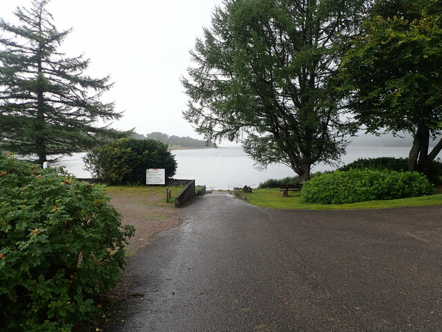 Slipway at Linnhe Lochside Holiday park