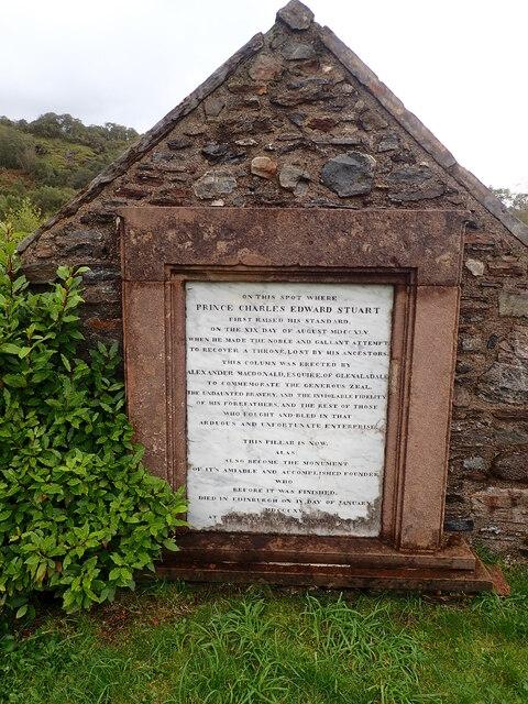 Memorial stone, Glenfinnan Monument