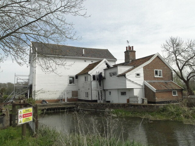 Wortwell water mill on the River Waveney