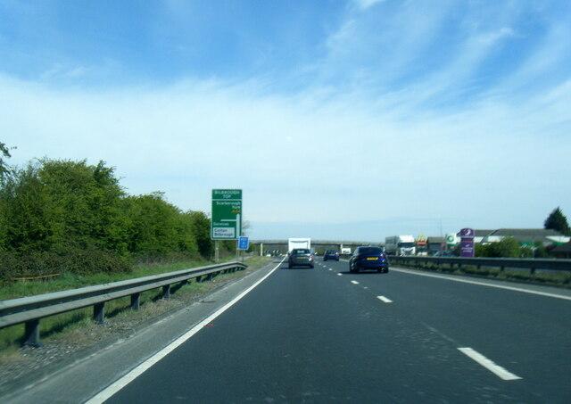 A64 near Bilbrough Top