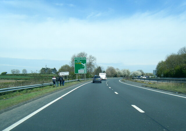 A64 near Askham Bryan turn