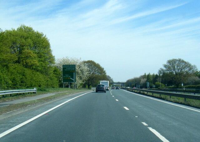 A64 near Askham Bryan College