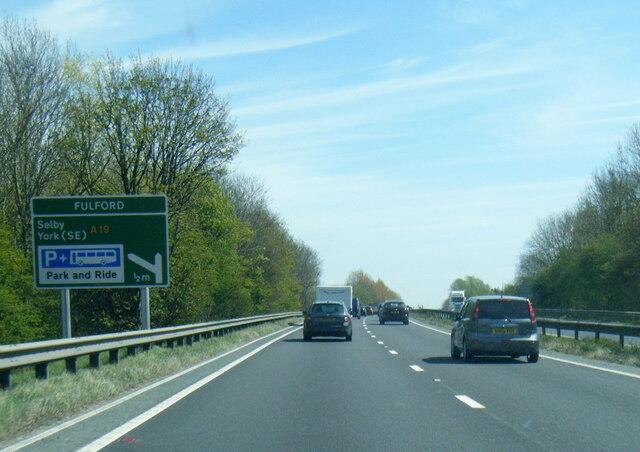 A64 nearing Fulford turn
