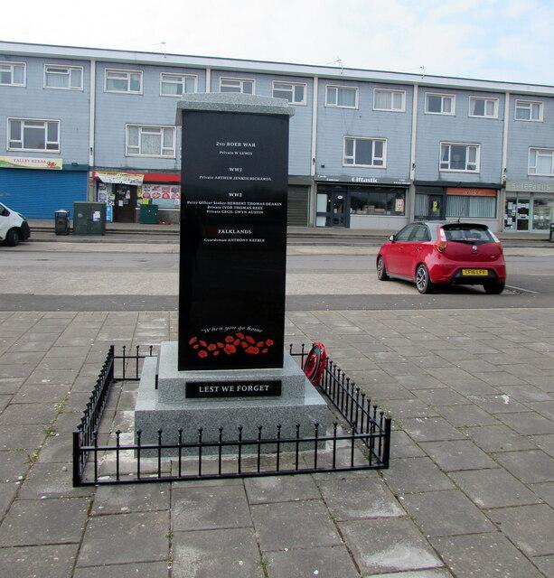 Dedications on Llanharry War Memorial
