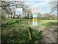 SE3323 : Signs at an entrance to Normanton golf club by Christine Johnstone