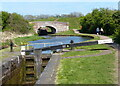 SO9868 : Tardebigge Lock No 49 and Hill Farm Bridge No 54 by Mat Fascione