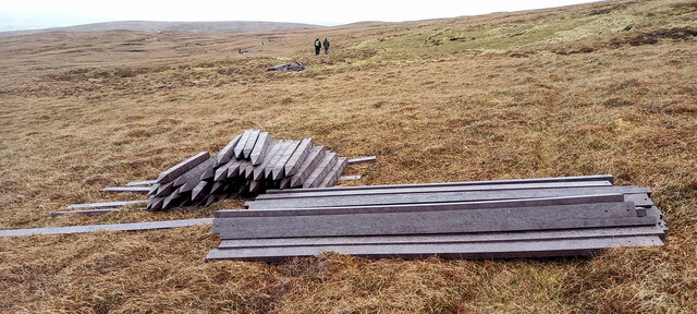 Materials for new boardwalk on Hermaness