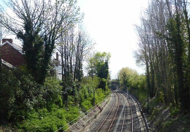 Tyne and Wear Metro approaching West Jesmond