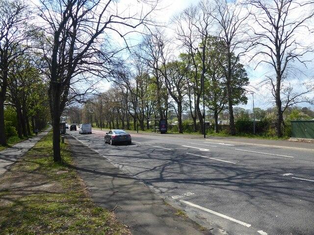 A189 heading towards Town Moor
