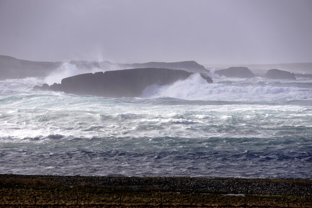 The Vere, Westing, in a storm