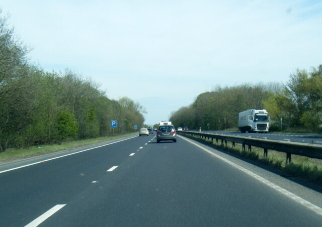 A64 north of Heslington Common