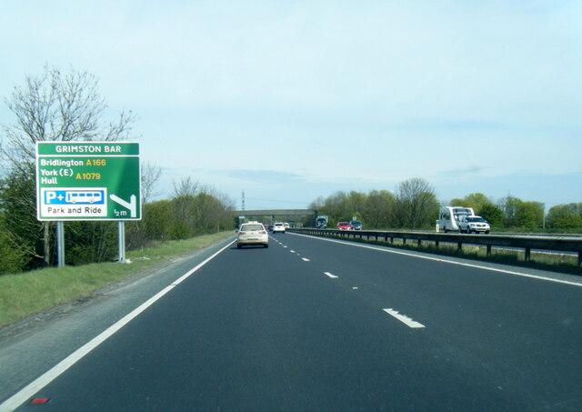 A64 nears Grimston Bar turn