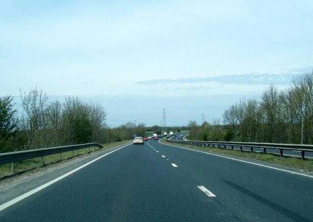 A64 eastbound at Murton