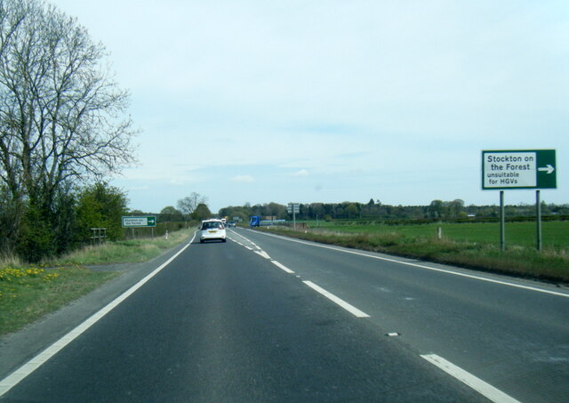A64 nears Barr Lane junction