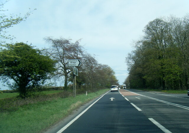 A64 at Stamford Bridge and Claxton turn